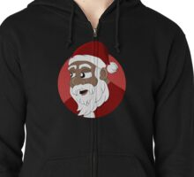 Santa Claus cartoon Zipped Hoodie