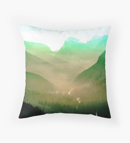 Mountains - Wildfire in the Valley Throw Pillow