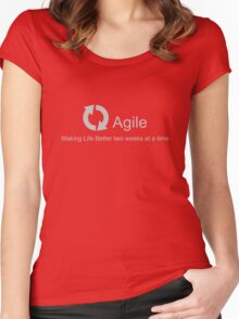 Agile Making Life Better Women's Fitted Scoop T-Shirt