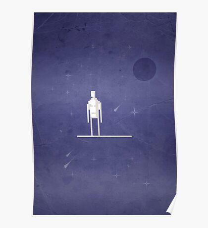 8-bit Galactic Surfer Poster