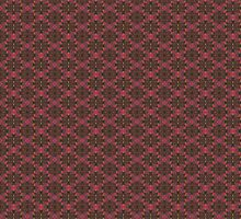 Fall Floral Check Pattern by BarbaraCleland