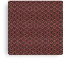 Fall Floral Check Pattern Canvas Print