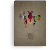 8-bit Man Spider Canvas Print