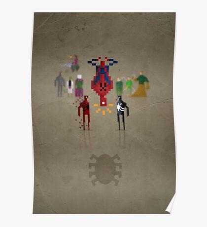 8-bit Man Spider Poster