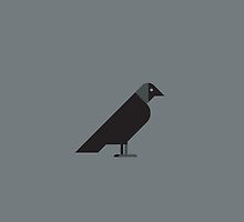 Western Jackdaw vector illustration by GA-Studio