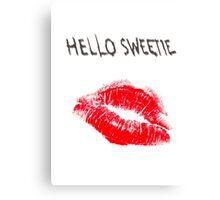 Hello Sweetie Kiss Kiss Canvas Print