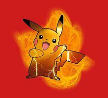 Pikachu (with background) by alwaid