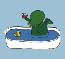 Bathtime for Cute-thulhu One Piece - Short Sleeve