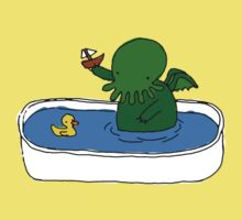 Bathtime for Cute-thulhu Kids Clothes