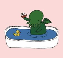 Bathtime for Cute-thulhu One Piece - Long Sleeve