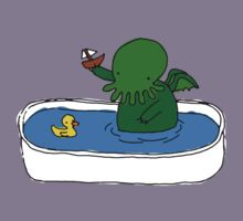 Bathtime for Cute-thulhu Kids Tee
