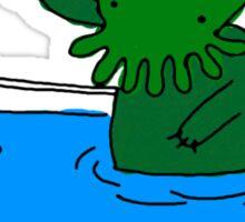Bathtime for Cute-thulhu Sticker