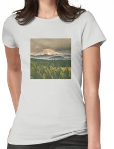 Mountains - Mt. Hood from Washington Womens Fitted T-Shirt