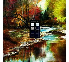tardis on the riverbank Photographic Print