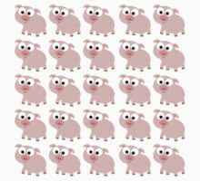 Cute Pink Pig Overload Kids Clothes