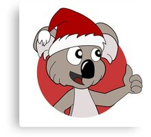 Cute Christmas koala cartoon Canvas Print