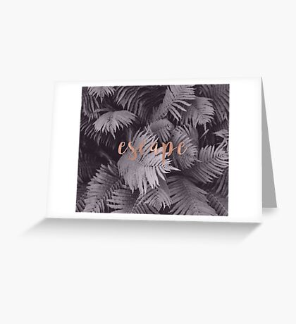 Rose gold escape in the shadows Greeting Card
