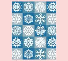 Checkered Snowflakes Kids Clothes