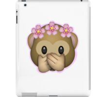 Emoji Monkey Flower Crown Edit iPad Case/Skin