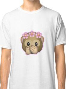 Emoji Monkey Flower Crown Edit Classic T-Shirt