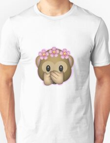 Emoji Monkey Flower Crown Edit Unisex T-Shirt