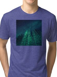Nature Forest - Night Star Signal Tri-blend T-Shirt