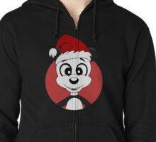Cute Christmas panda bear cartoon Zipped Hoodie