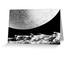 Moon Rising over Pineapple Sea Greeting Card