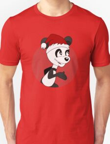 Cute Christmas panda bear cartoon Unisex T-Shirt