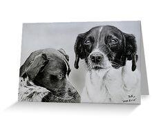 """Spike and Stip"" - Dog portraits Greeting Card"