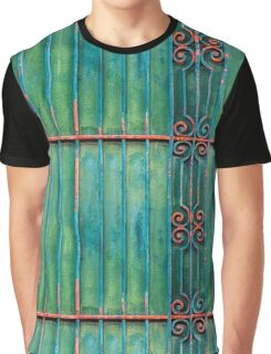 Decorative green pattern (iron and time) Graphic T-Shirt