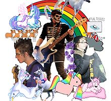 mikey way n teh unircorns by GoodLuckAndBye