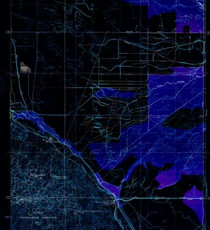 USGS TOPO Map California CA Tupman 296572 1933 31680 geo Inverted Sticker