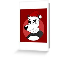 Cute Christmas panda bear cartoon Greeting Card