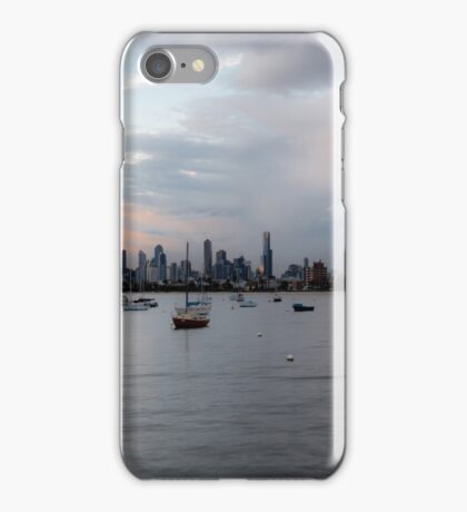 Melbourne, from St Kilda Pier, on a calm evening iPhone Case/Skin