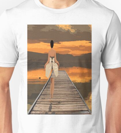 The girl with magical dress. Unisex T-Shirt