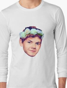 Thomas Brodie-Sangster Flower Crown Long Sleeve T-Shirt