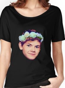 Thomas Brodie-Sangster Flower Crown Women's Relaxed Fit T-Shirt