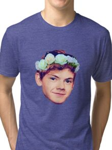 Thomas Brodie-Sangster Flower Crown Tri-blend T-Shirt