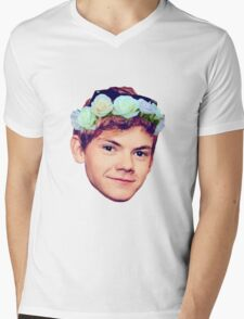 Thomas Brodie-Sangster Flower Crown Mens V-Neck T-Shirt
