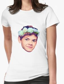Thomas Brodie-Sangster Flower Crown Womens Fitted T-Shirt