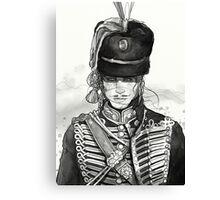 Male Hussar:2 Canvas Print