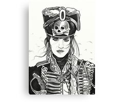 Female Prussian Hussar Canvas Print