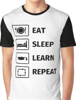 EAT, SLEEP, LEARN, REPEAT Graphic T-Shirt