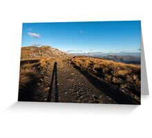 Selfie shadows, late afternoon, Crown Range Greeting Card