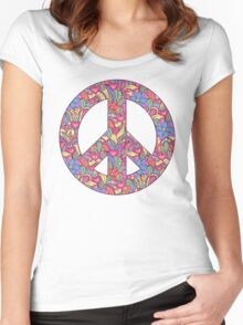 peace symbol Women's Fitted Scoop T-Shirt