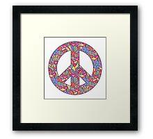 peace symbol Framed Print