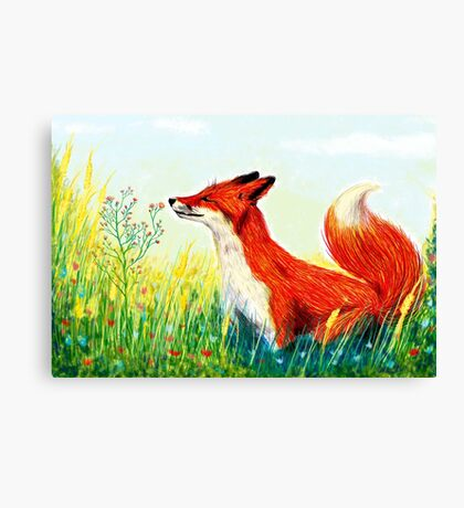 Zorro rojo  Canvas Print