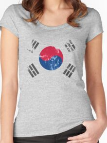 Flag of South Korea Women's Fitted Scoop T-Shirt