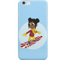 Snowboarding girl cartoon iPhone Case/Skin